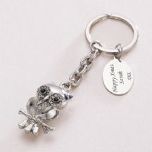 Owl Keyring with Engraving